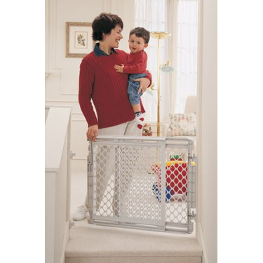 North States Stairway Gate, Plastic and Hardware Mount
