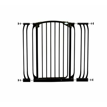 Dreambaby Extra Tall Swing Close Gate with Extensions, Black