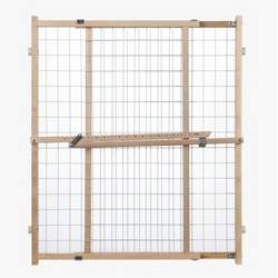 "North States Wire Mesh Gate 32"" Tall Wood/Pressure Mount"