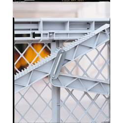 North States Supergate V Plastic Gate- Hardware Mount And Fits Large Opening