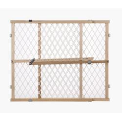 North States Diamond Mesh Wood Gate - Pressure Mount