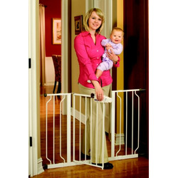 Regalo Easy Step Extra Wide Walk Thru Gate, White