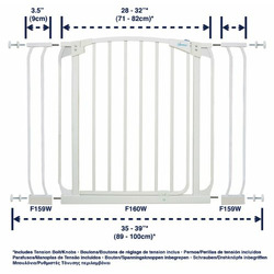 Dreambaby Swing Close Gate Value Pack, Includes 2 Gates and 2 Extensions