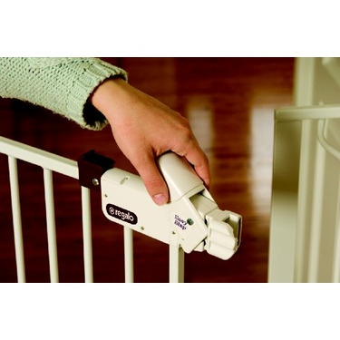 Regalo Easy Step Extra Tall Walk Thru Gate - White