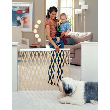 North States Expandable Swing Wood Gate - Extra Wide and Hardware Mount