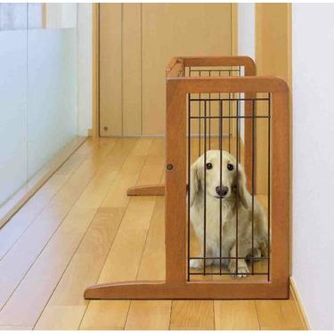 Richell 94135 Freestanding Pet Gate with Autumn Matte Finish, Small