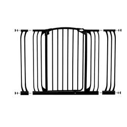 Dreambaby Extra Tall Pressure Mount Hallway Gate with Extensions, Black