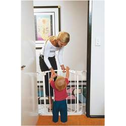 Dreambaby Extra Tall Gate, Two Gates and Two Extensions Value Pack, White