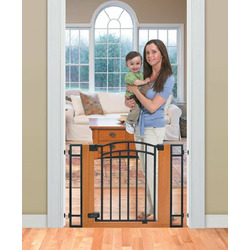 Summer Infant Stylish n Secure Metal and Wood Walk Thru Gate