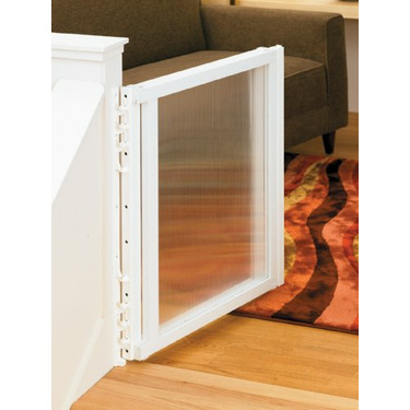 """North States Industries Clear Choice Stairway Gate-Hardware Mount- Fits openings 30"""" to 50"""""""