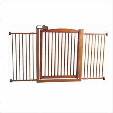 Extra-Wide One-Touch Wooden Pet Gate in Autumn Matte Finish