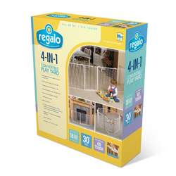 Regalo 4 In 1 Metal Play Yard, White