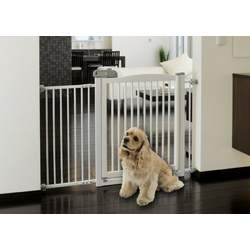 Richell One-Touch 150 Pet Gate, Origami White