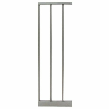 """Kolcraft 8"""" Gate Extension in Golden Birch and Gray"""