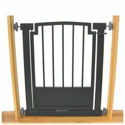 Metal Doorway Dog Gate - Mocha