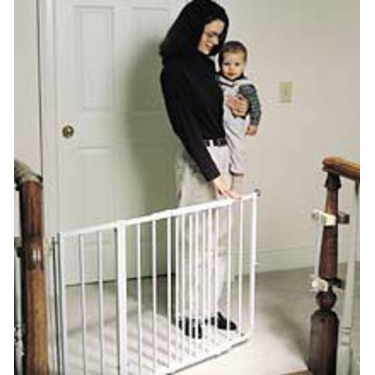"""Cardinal Gates ss-30 Cardinal Gates Stairway Special Child Safety Gate 26""""-42 1 2""""W x 30""""H (Black or White) Extensions av"""