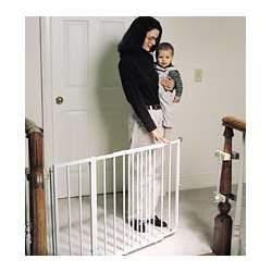 "Cardinal Gates ss-30 Cardinal Gates Stairway Special Child Safety Gate 26""-42 1 2""W x 30""H (Black or White) Extensions av"