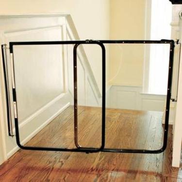 Cardinal Pet Gates Clear Panel Gate, Black