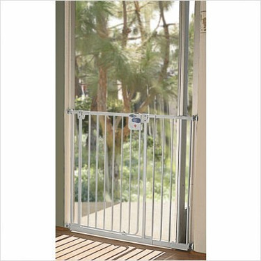 LA Baby Extra Tall Self Closing Safety Gate, White