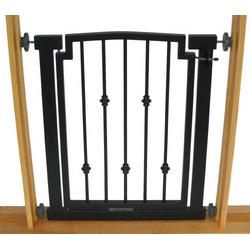 "Emperor Rings Dog Gate (Small - 32"" tall x 28""-34"" wide, Black)"