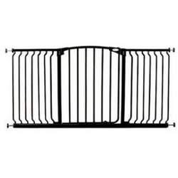 Dream Baby Std. Hallway Swinging Gate Combo Pack - (38'' - 53'') Black