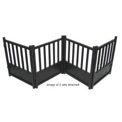 Free Standing Royal Weave Dog Gate - Mocha
