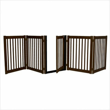 Freestanding Walk Through Gate 5 Panel Mahogany