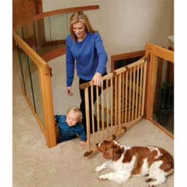 """KidCo Angle Mount Safeway Wood Child Safety Gate 9"""" Extension - Unfinished"""