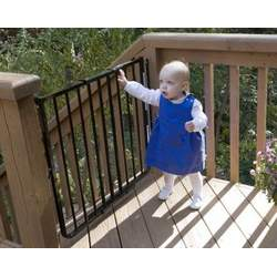 Stairway Special Baby Gate for Outdoors Colors: Black