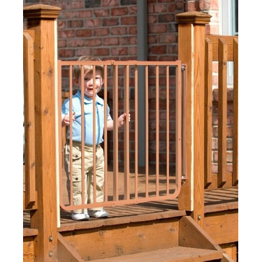 Stairway Special Baby Gate for Outdoors Colors: Brown