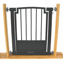 "Royal Weave Dog Gate (Small - 32"" tall x 28""-34"", Black)"