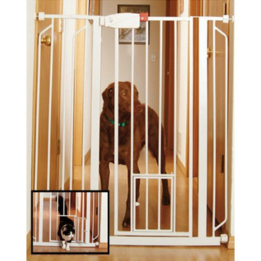 Easy Step High-Guard Gate Color: White