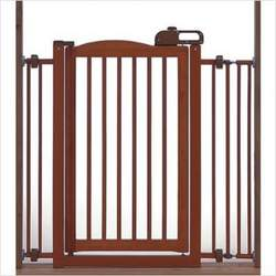 One-Touch Wooden Pet Gate in Autumn Matte Finish