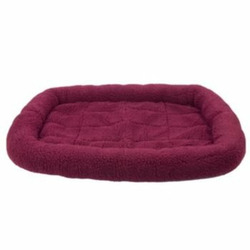 Fleece Crate Dog Bed Burgundy 47.75 x 29.75