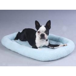 Fleece Crate Dog Bed Baby Blue 35.75 x 22.75