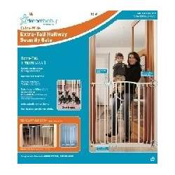 Extra-Tall Swing Close Hallway baby child Gate - White