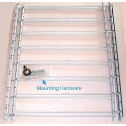 "John Sterling 8 Bar Fixed Window Guard,30x24-42"",WHITE"