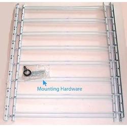 "John Sterling 8 Bar Fixed Window Guard,30x24-42"",WHITE"