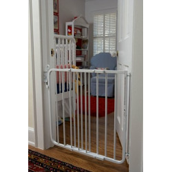 Auto-Lock Safety Gate - White