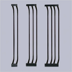 Black Extra-Tall Gate Extensions Size: Small