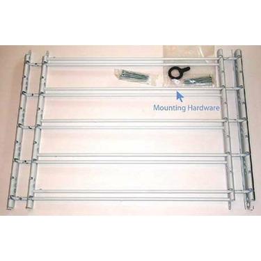 "John Sterling 5 Bar Fixed Window Guard 25x23-42"",WHITE"