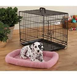 Fleece Crate Dog Bed Pink 47.75 x 29.75