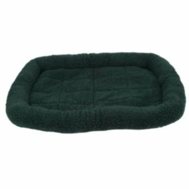 Fleece Crate Dog Bed Hunter Green 35.75 x 22.75