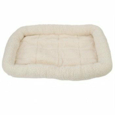 Fleece Crate Dog Bed Natural 47.75 x 29.75