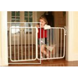 "21 3/4"" extension for the Stairway Special Baby Gate Colors: White"