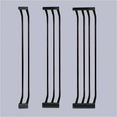 Black Extra-Tall Gate Extensions Size: Medium