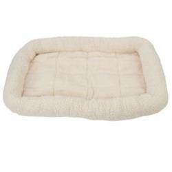 Fleece Crate Dog Bed Natural 41.75 x 27.75