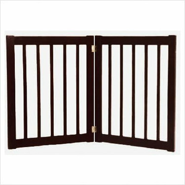 """Two 27"""" Panel Free Standing EZ Pet Gate in Black"""