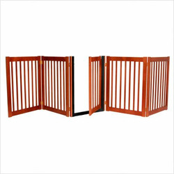 Freestanding Walk Through Gate 5 Panel Cherry