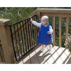 Stairway Special Baby Gate for Indoors Colors: Black
